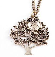 Load image into Gallery viewer, Tree Owl Necklace Gold