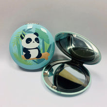 Load image into Gallery viewer, Panda Pocket Mirror Blue