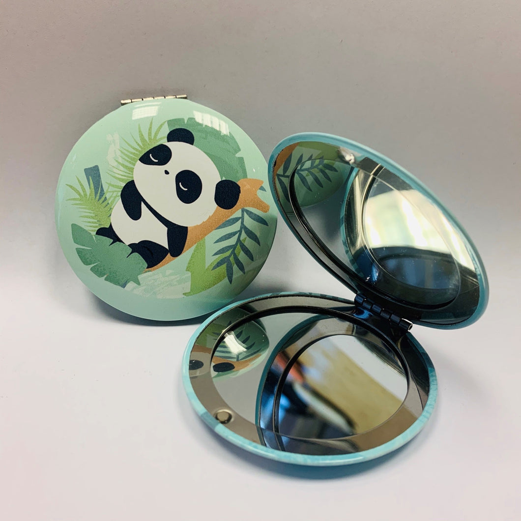 Panda Pocket Mirror Green