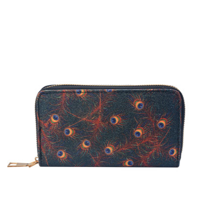 Peacock Feathers Wallet L