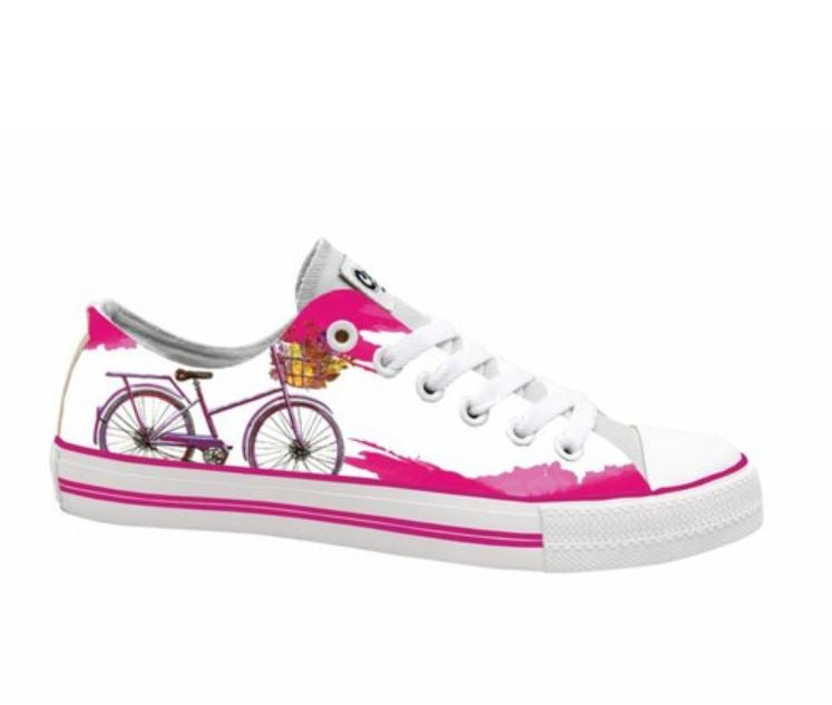 Pink Bike Kids Sneakers