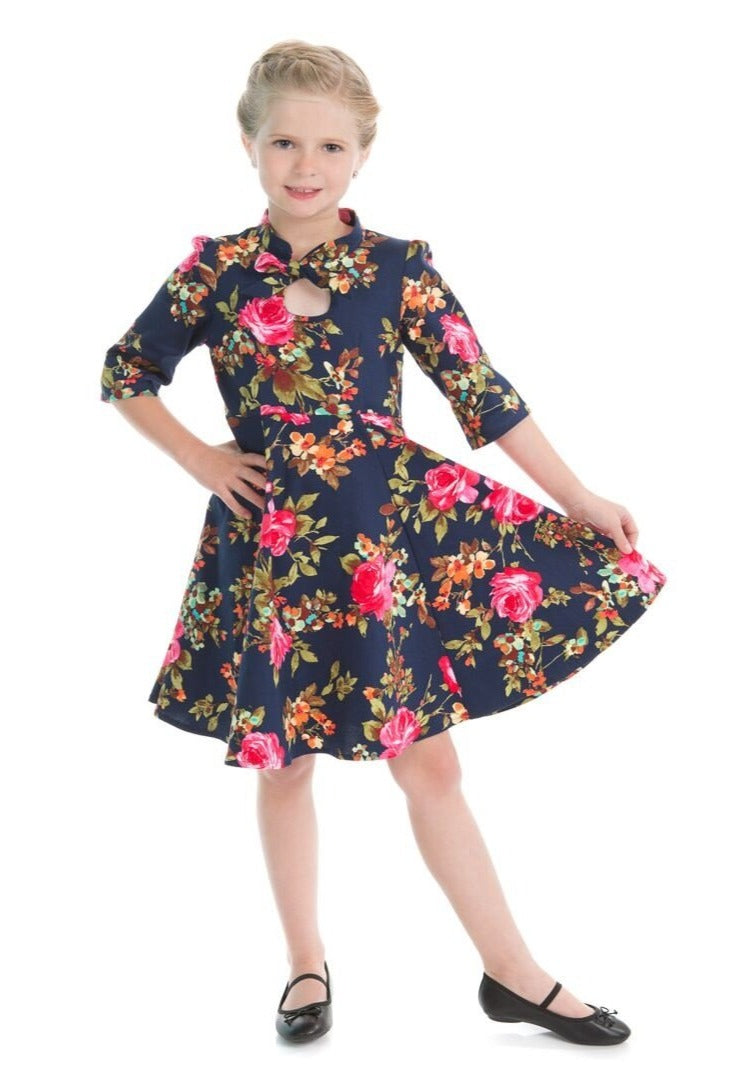 Pink Rose Kids Dress