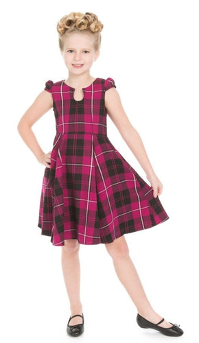 Purple Tartan Kids Dress