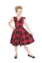 Load image into Gallery viewer, Red Tartan Kids Dress