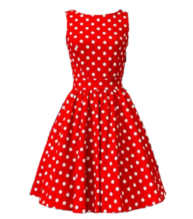 Red White Dot Dress