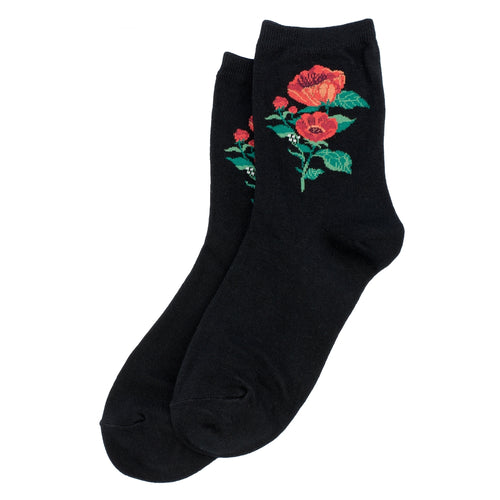 Bert Socks Poppies