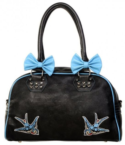 Blue Bow Swallow Bag