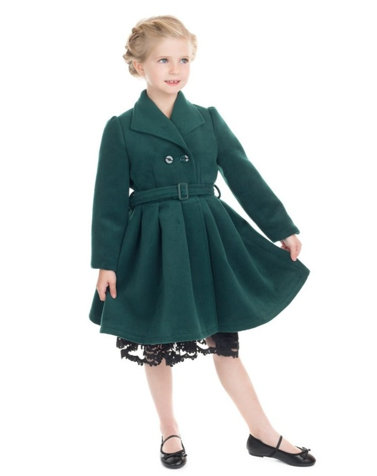 Jasmine Kids Coat Green