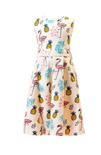 Load image into Gallery viewer, Tiki Kids Dress Yellow