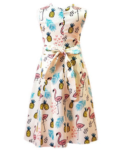 Tiki Kids Dress Yellow