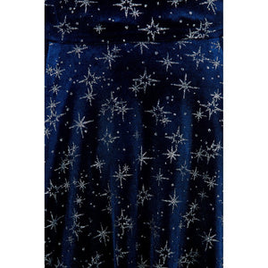 Atomic Star Dress Velvet Blue