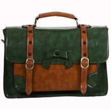 Load image into Gallery viewer, Vintage Bow Handbag Small Green
