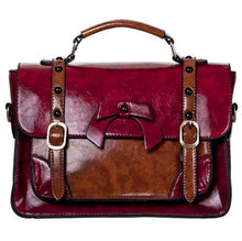 Load image into Gallery viewer, Vintage Bow Handbag Small Red