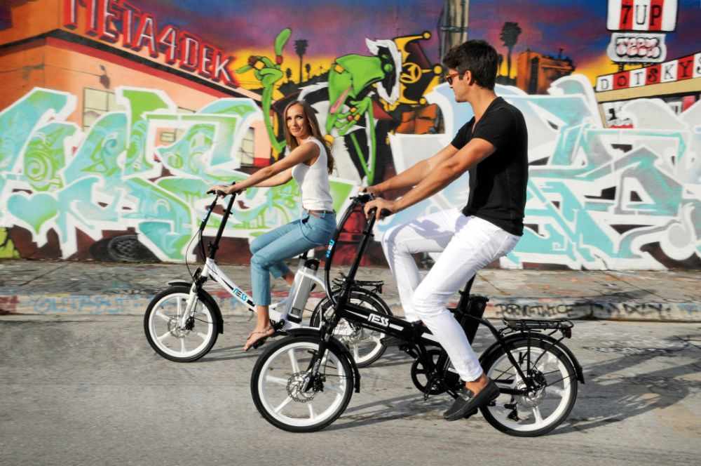 Ness Icon and Rua Electric Folding Bikes