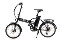 Ness Rua Electric Folding Bike BLACK with Color Wheels