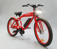 Phantom Bikes Electric Shadow Classic Cruiser Electric Bicycle Red