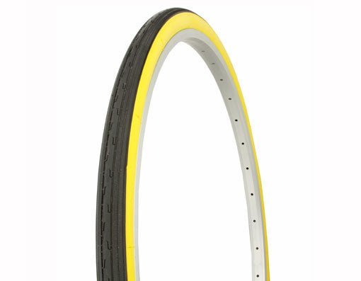 "Tire Duro 26"" x 1 3/8"" Black/Yellow Side Wall"