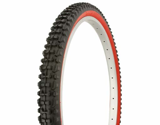 "Tire Duro 26"" x 2.10"" Black/Red Side Wall"