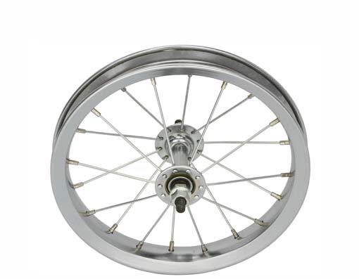 "12 1/2"" x 2 1/4"" Steel Front Wheel 80g Chrome"