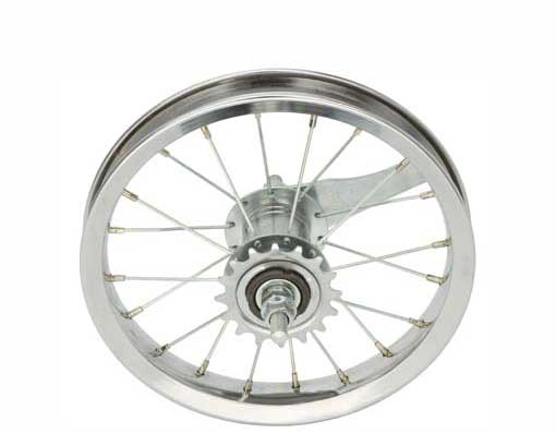 "12 1/2"" x 2 1/4"" Steel Coaster Wheel 80g Chrome"