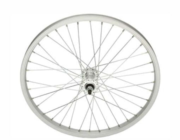 "20"" 36 Spoke Alloy Front Wheel 14G Silver"