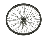 "20"" 48 Spoke Alloy Front Wheel 14G Black"