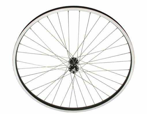 "26"" x 1.50"" Alloy Front Wheel 80g Black/Sliver"