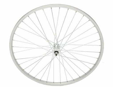 "26"" x 1.50"" Alloy Front Wheel 80g Sliver."