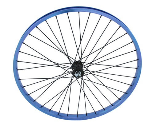 "26"" x 2.125"" Alloy Front Wheel 105g Blue"