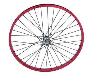 "26"" x 2.125"" Alloy Front Wheel 105g Red"