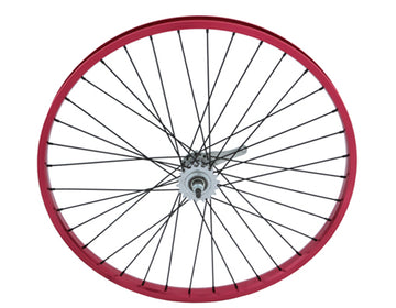 "26"" x 2.125"" Alloy Coaster Wheel 105g Red"