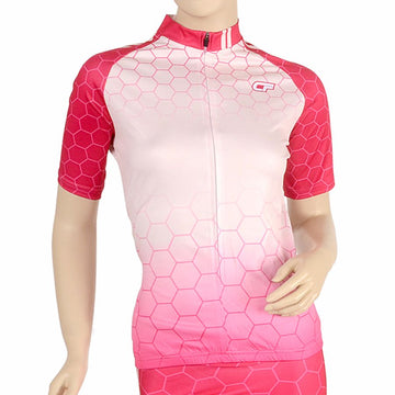 Cycle Force Triumph Womens Pink Cycling Jersey