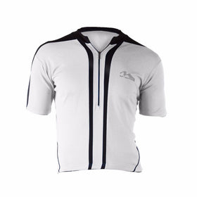 M-Wave White/Black Mens Bicycle Jersey