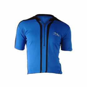 M-Wave Blue/Black Mens Bicycle Jersey