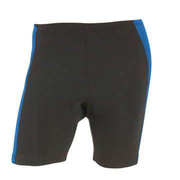 M-Wave Black/Blue Mens Bicycle Shorts