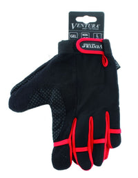 Ventura Red Full Finger Touch Glove