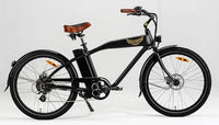 Ariel Rider Ebikes W-Class Comfort Electric Beach Cruiser in Black