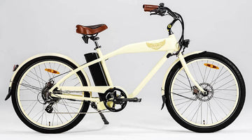 Ariel Rider Ebikes W-Class Comfort Electric Beach Cruiser in Beige