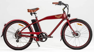 Ariel Rider Ebikes W-Class Comfort Electric Beach Cruiser in Red