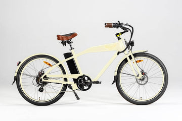 Ariel Rider Ebikes W-Class Premium Electric Beach Cruiser in Beige