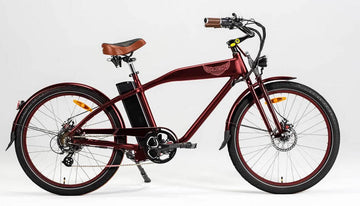 Ariel Rider Ebikes W-Class Premium Electric Beach Cruiser in Red