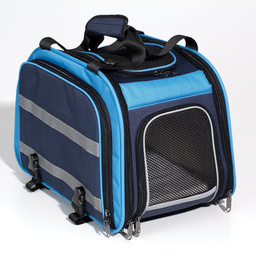 Expandable Pet Carrier Blue