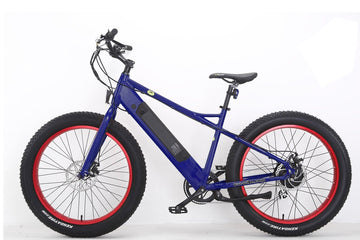 Bat-Bike Big Foot Electric Fat Tire Bike - Metallic Blue