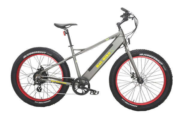 Bat-Bike Big Foot Electric Fat Tire Bike - Metallic Grey