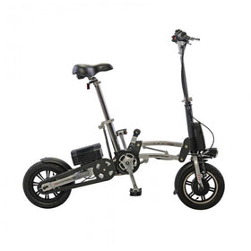 e-Mazing Innovations B.O.B. Electric Bicycle - Silver/Black
