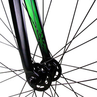 Zycle Fix Prime Alloy MATTE BLACK NEON GREEN Fixie Fixed Gear Track Bike