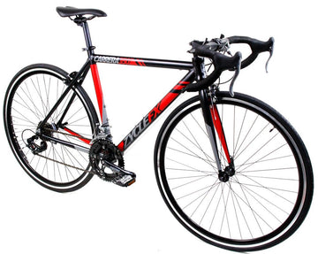 Zycle Fix Carrera 350 Road Bike Black with Red Accents