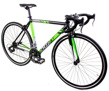 Zycle Fix Carrera 350 Road Bike Black with Green Accents