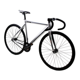 Zycle Fix Prime Alloy CHROME Fixie Fixed Gear Track Bike