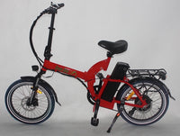 Green Bike USA GB5 500 Full Suspension Electric Bicycle, Electric Folding Bike - RED